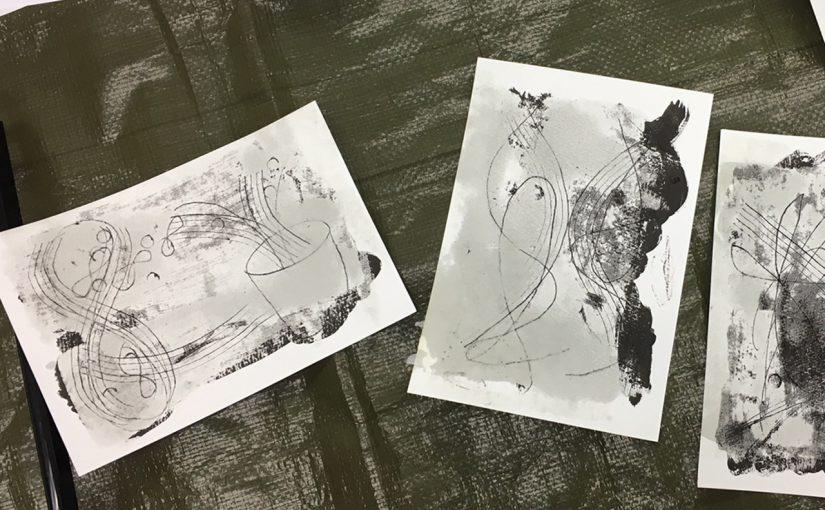 6/1蜜蝋画を描く・3【東京・赤坂】終了